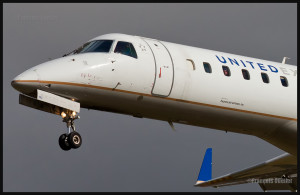 United Express on final at the Quebec Jean-Lesage international airport.