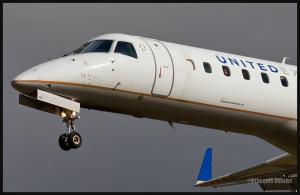 United Express en finale, à l'aéroport international Jean-Lesage de Québec