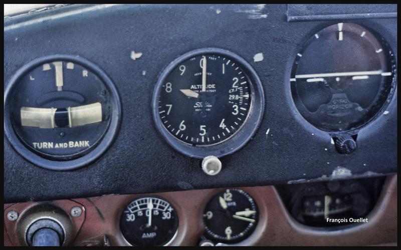 En montée vers 9,500 pieds lors du retour vers St-Jean-sur-Richelieu, en 1981.