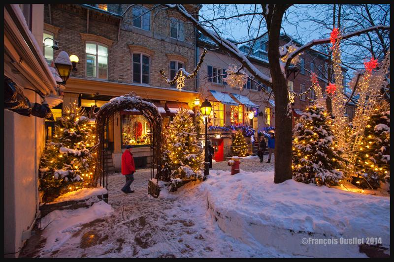 Une soirée dans le quartier Petit-Champlain, dans le Vieux-Québec en 2014