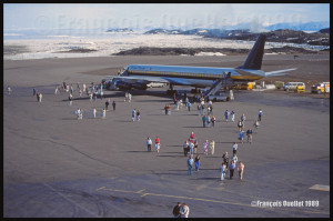 DC-8-63F de Trans Ocean N794AL à Iqaluit en 1989