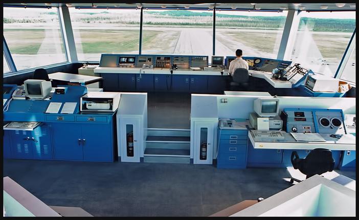 Nouvelle station d'information de vol de Rouyn-Noranda. Photo prise autour de 2002. Auteur inconnu.