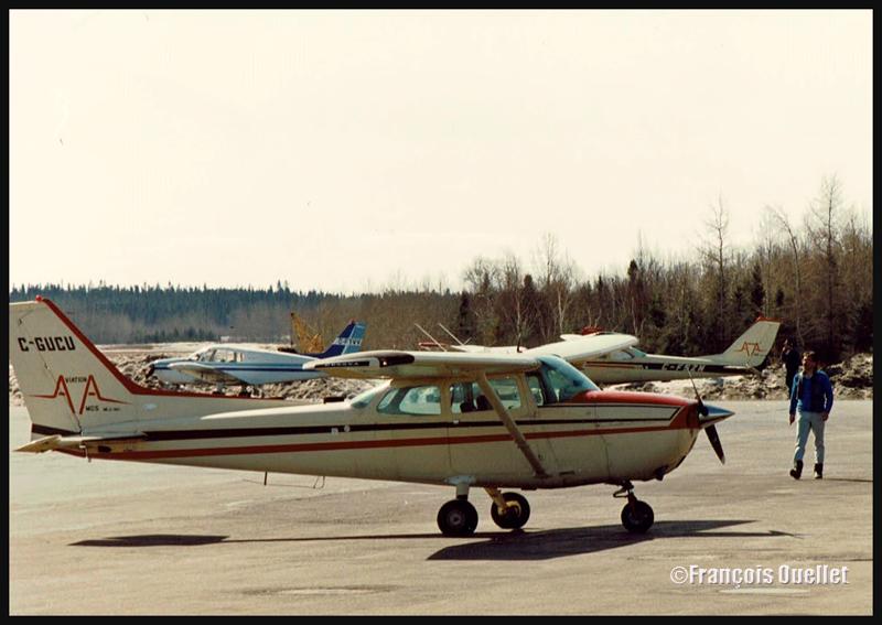 Cessna C172 C-GUCU à Rouyn-Noranda vers 1986