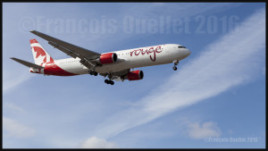 Air Canada Rouge Boeing 767-300ER final 05 at Toronto 2016