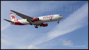 Air Canada Rouge Boeing 767-300ER en finale 05 à Toronto 2016