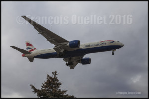 British Airways Boeing 777-236 G-ZZZA à Toronto 2016