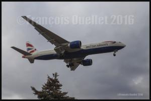 British Airways Boeing 777-236 G-ZZZA in Toronto 2016