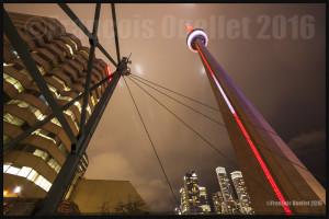 La tour du CN au crépuscule à Toronto, Ontario (2016)