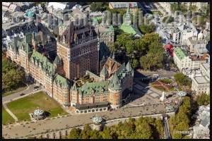 The Château Frontenac, Dufferin Terrace and a small part of Old Quebec in 2015