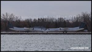 Porter Q-400 C-GLQM and C-GLQB at Toronto CYTZ 2016