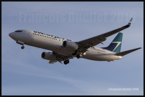 Westjet Boeing 737-800 C-FYPB in Toronto 2016