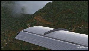 Un DHC-6 Twin Otter virtuel en approche pour la piste bosselée de Yongai (KGH) en Papouasie Nouvelle-Guinée PNG (FSX)