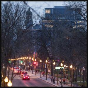 Photographie de nuit, avenue Grande-Allée, Ville de Québec mai 2016