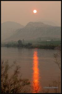La région de Kamloops, en Colombie-Britannique, durant les nombreux feux de forêt de 2014
