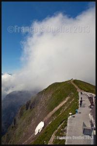 Sommet du Moléson dans les nuages 2013