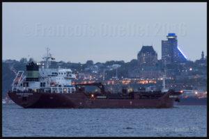 Le navire Sloman Herakles (St. John's) devant Québec en 2016