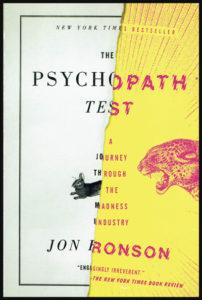 """Couverture du livre """"The Psychopath Test"""" de Jon Ronson"""