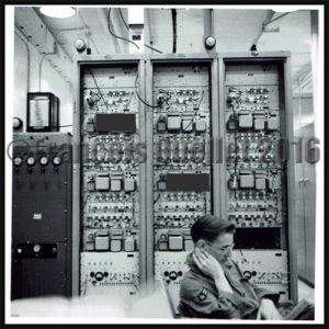 Militaire américain en poste à Frobisher Bay, NWT, Canada pour la surveillance de la ligne Pinetree en 1955