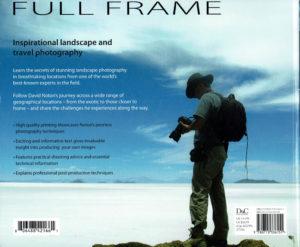 """Quatrième de couverture du livre de photographie """"Full Frame"""" de David Noton"""