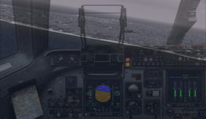 Avion militaire canadien C17-A en longue finale piste 10 à l'aéroport virtuel de Block Island (KBID) aux États-Unis (FSX)