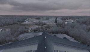 Avion militaire canadien C17-A en finale piste 10 à l'aéroport virtuel de Block Island (KBID) aux États-Unis (FSX)