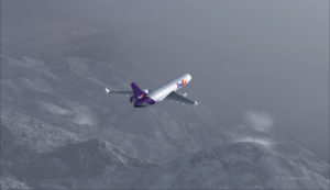 MD-11 de FedEx sur un trajet Eagle County (KEGE) Telluride (KTEX) (FSX)