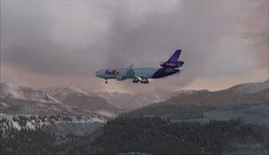 Un MD-11 de FedEx en provenance de KEGE en finale pour l'aéroport de Telluride (KTEX) (FSX)