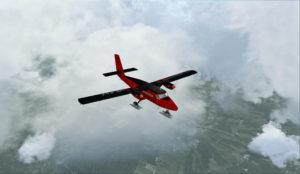 En vol vers El Tepual de Puerto Montt, Chili.