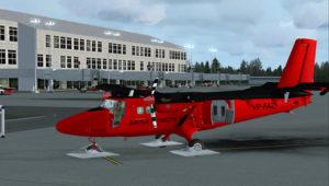 Prêt pour le ravitaillement à l'aéroport de El Tepual de Puerto Montt, Chili