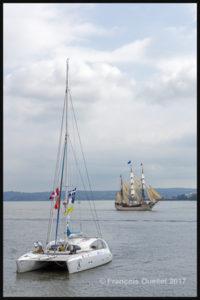 Le catamaran Impossible Dream et le voilier Europa arrivent à Québec pour le RDV 2017