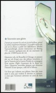 """Quatrième de couverture du livre: """"Souvenirs sans gloire"""""""