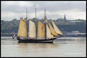 Le voilier Oosterschelde arrive à Québec pour le RDV 2017