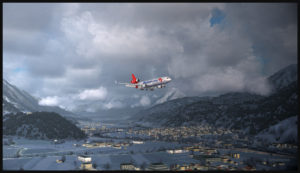 MD-11F virtuel de Martinair Cargo en approche pour l'aéroport d'Innsbruck (LOWI)