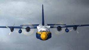 Le deuxième moteur vient de s'arrêter sur le C-130 Hercules.