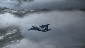 Double engine failure for this virtual Blue Angles C-130 Hercules.