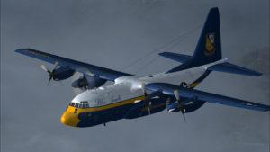 Trois pannes de moteur sur ce C-130 Hercules virtuel des Blue Angels.