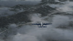 Virtual C-130 Hercules aircraft with three engine failures enroute to the Bonners Ferry airport.