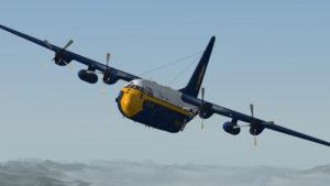 Les quatres moteurs sont maintenant en panne sur ce C-130 virtuel.