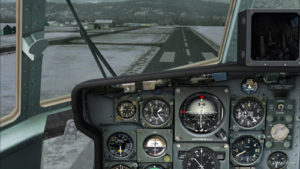 Speed 140 knots, aligned with the Bonners Ferry's runway.