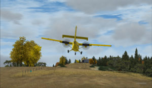 On final for the Limberlost Ranch runway