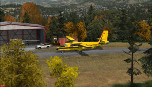 Arrival at Limberlost Ranch of the Twin Otter C-FOPG