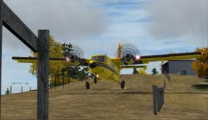 Aéronef virtuel C-FOPG roule sur la piste de Limberlost Ranch (CA21)