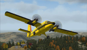 Avion Twin Otter quittant Limberlost Ranch (CA21)
