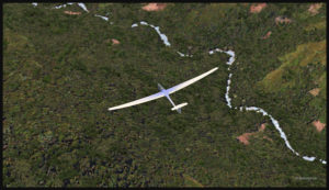 Virtually gliding over the Papua New Guinea territory (FSX).