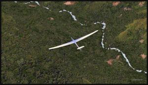 Survol du territoire de la Papouasie Nouvelle-Guinée avec un planeur virtuel (FSX)