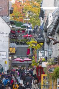 Couleurs d'automne dans le quartier Petit-Champlain dans le Vieux-Québec, automne 2018.