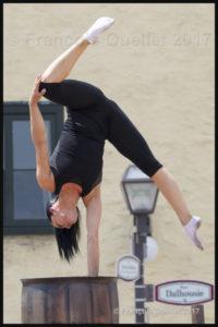 Performance acrobatique à Québec.