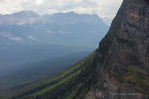 Vue à partir du sommet du Big Beehive, en Alberta.