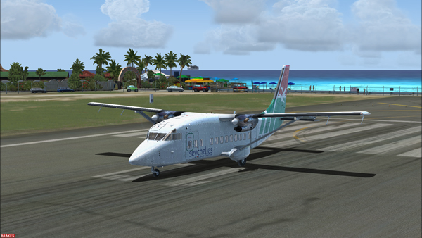 The Shorts 360 at the Princess Juliana Intl, ready for take-off for the Juancho E. Yrausquin airport.