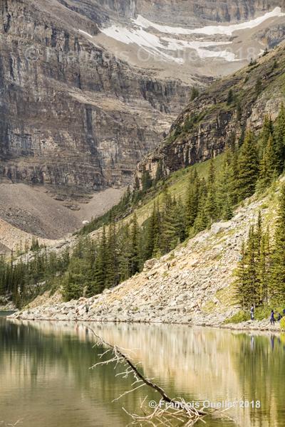 Une vue partielle de Lake Agnes, Alberta 2018.